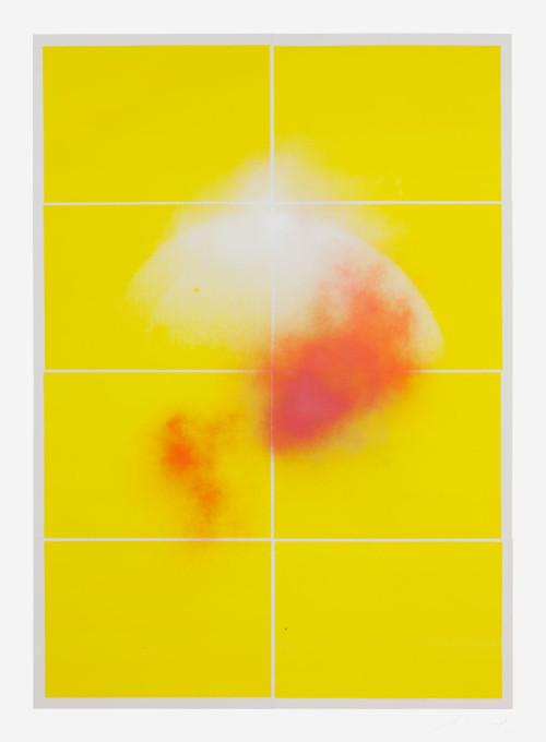 Stephane Leonard / Claudio Pogo / ot / spray paint on collaged photograph 100 x 137 cm / 2013