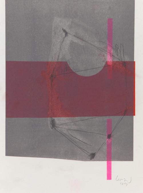 Stephane Leonard / ot / pencil on Risograph print on paper / 30 x 42 cm / 2014
