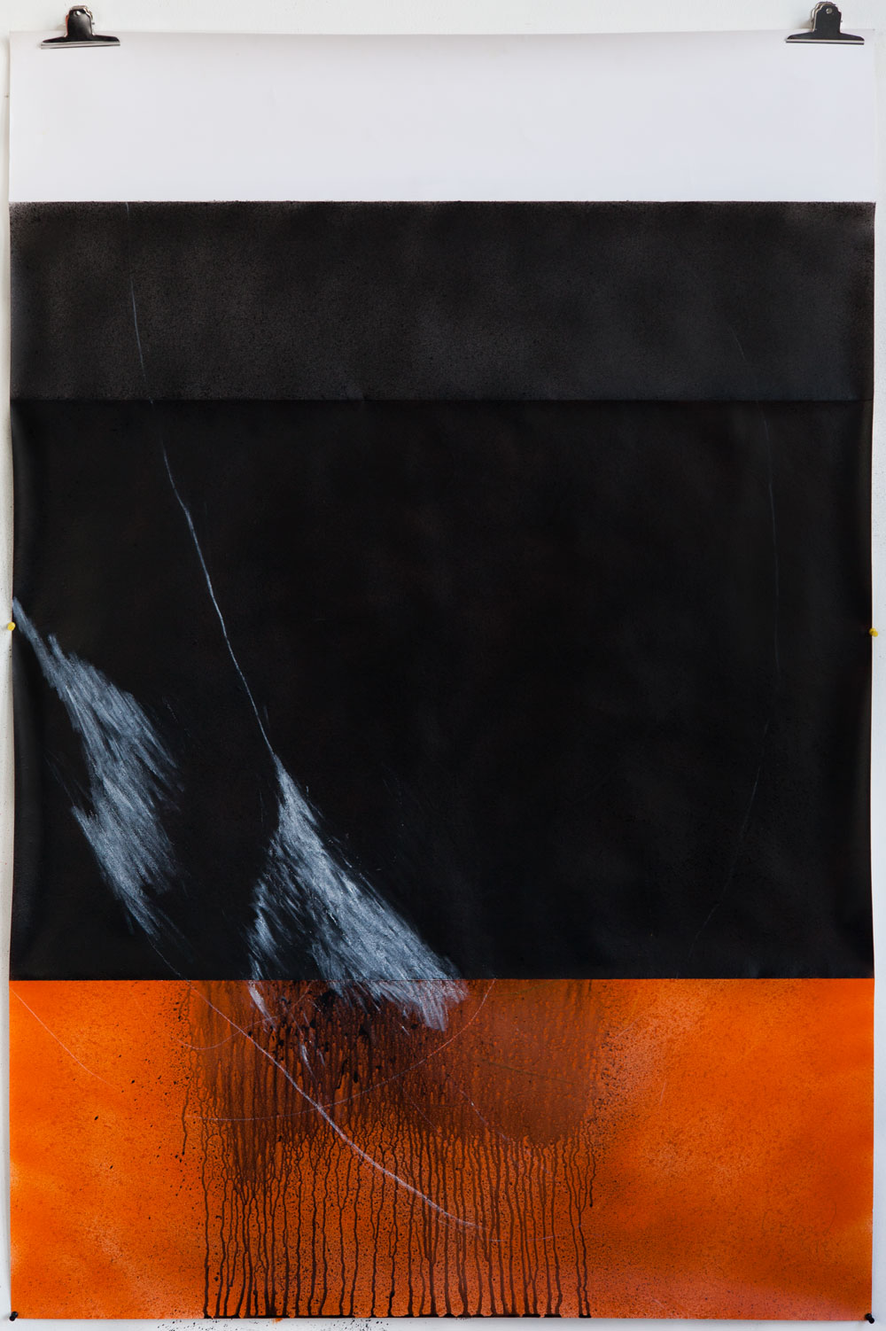 Stephane Leonard / ot / lacquer and oil on paper / 110 x 166 cm / 2013