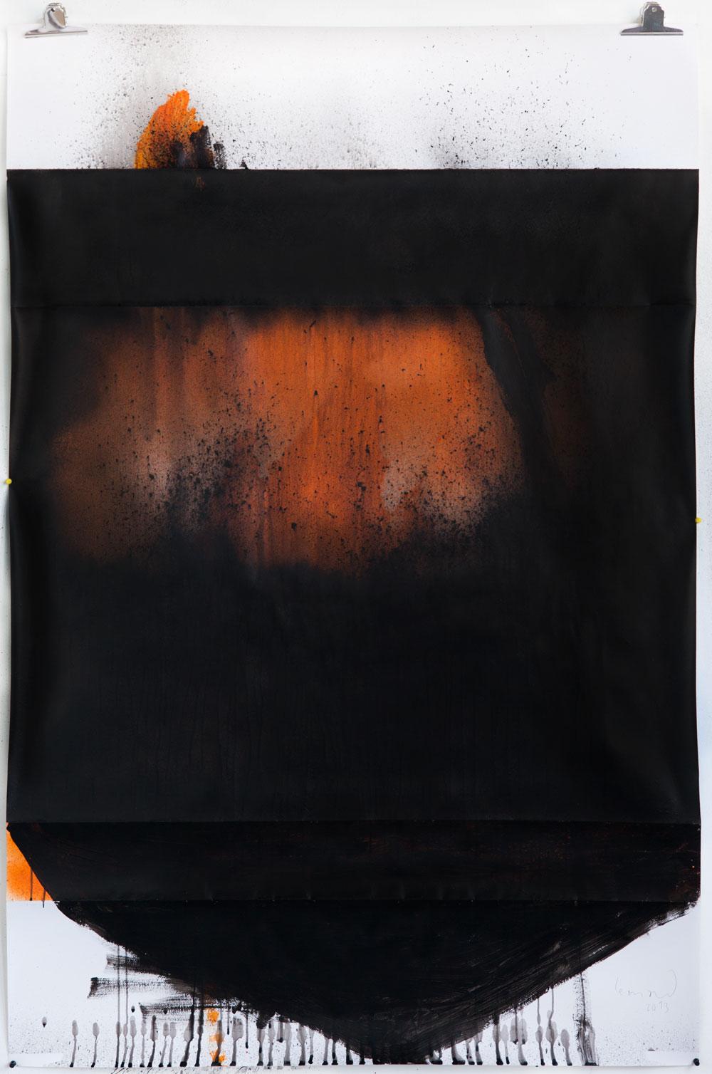 Stephane Leonard / ot / lacquer on paper / 110 x 166 cm / 2013