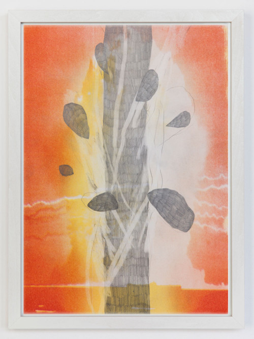 Stephane Leonard / When The Wind Blows / pencil on Risograph print / 29 x 41 cm / 2013