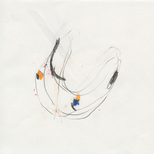Stephane Leonard / Untitled (Planets) / pencil, lacquer, spray paint on paper<br /> 20 x 20 cm / 2013&#8243; /><a rel=