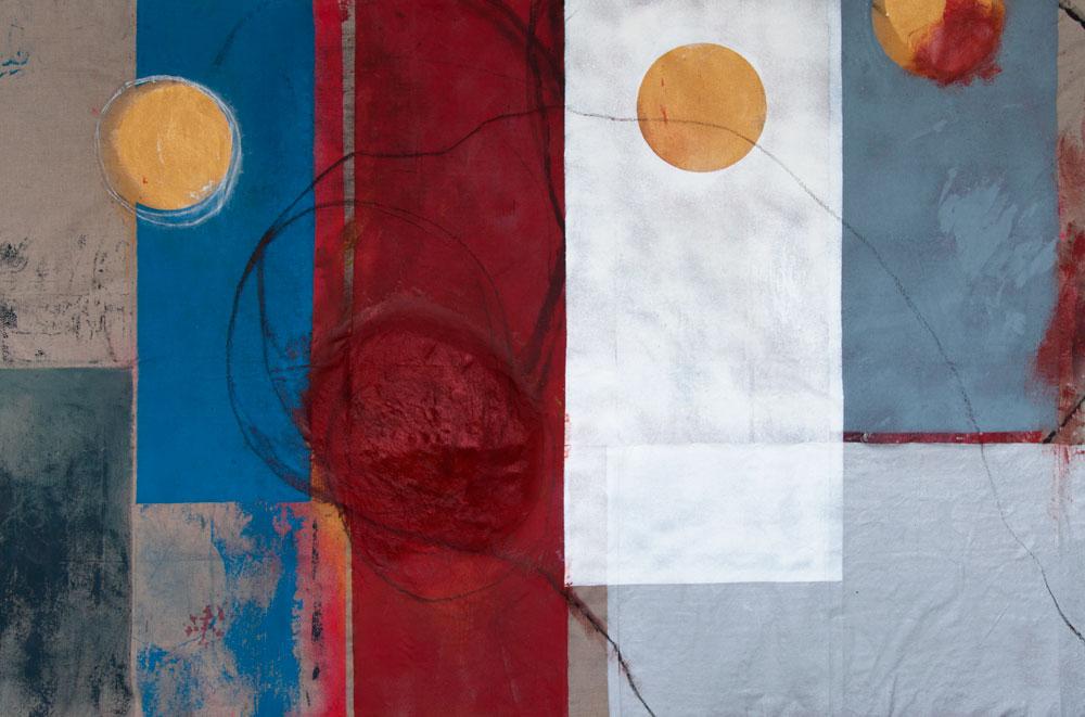 Stephane Leonard / ot / acrylic and oil on canvas / 320 x 210 cm / 2014