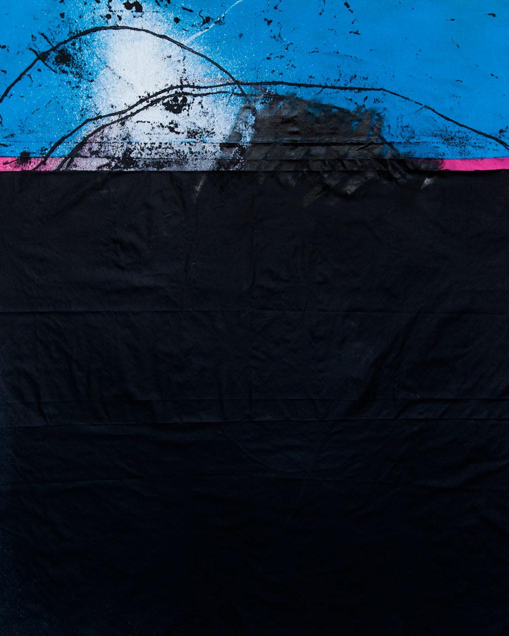 Stephane Leonard / ot / acrylic and oil on canvas / 140 x 190 cm / 2014