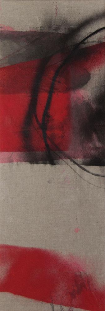 Stephane Leonard / ot / acrylic and oil on canvas / 210 x 70 cm / 2014