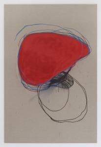 Stephane Leonard / o.T. (Trauma Series) / spray paint on linnen / 180 x 120cm / 2015